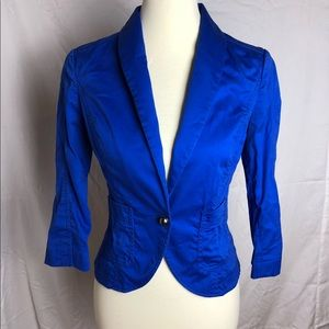 Express Single Button Fitted Blazer